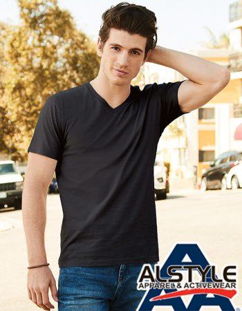 Alstyle Ringspun V-Neck T-shirt #5300ALS