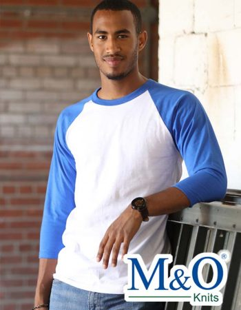M&O 3/4 Sleeve Baseball Shirt #5540