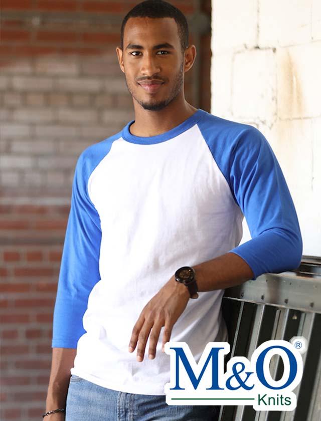M&O 3/4 Sleeve Baseball Shirt #5540