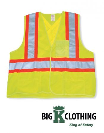 Big K Clothing Polyester Safety Vest #BK20-4-5-6