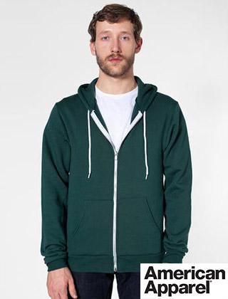 American Apparel Flex Fleece Zip Hoodie #F497