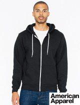 Amer Apparel Flex Fleece Zip Hoodie #F497W