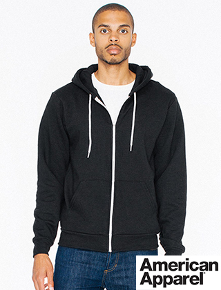 Amer Apparel Flex Fleece Zip Hoodie #F497W
