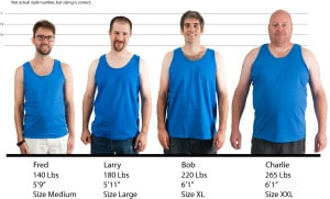Gildan Ultra Cotton Sleeveless #2700 size lineup