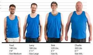 Gildan Ultra Cotton Tank Top #2200 size lineup