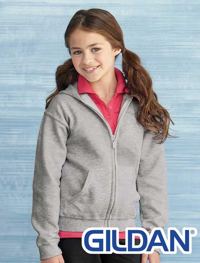 YOUTH Gildan Full Zip Blend Hoodie #18600B
