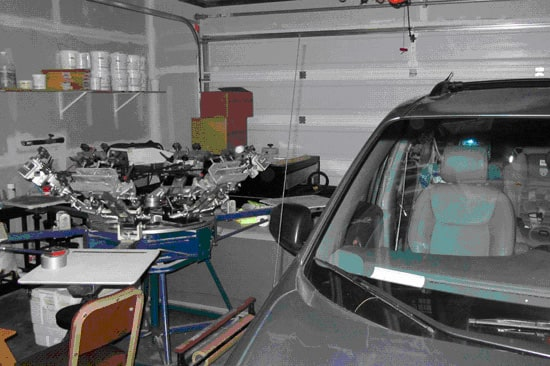It started in a friend's garage. The friend had to go to work before the press could turn.