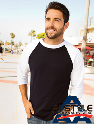 Alstyle Adult 3/4 Sleeve Baseball #1334