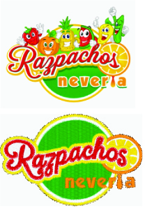 Detailed embroidery simplified for Razpachos Neveira
