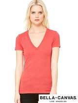 Bella+Canvas Ladies Triblend V-Neck #B8435