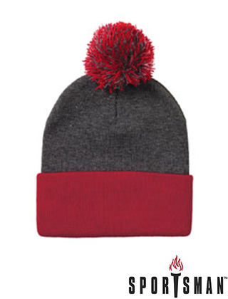 Sportsman Knit 12″ Pom Pom Toque #SP15