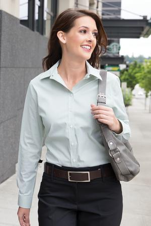 Coal Harbour Mini Stripe Ladies Shirt #L6006