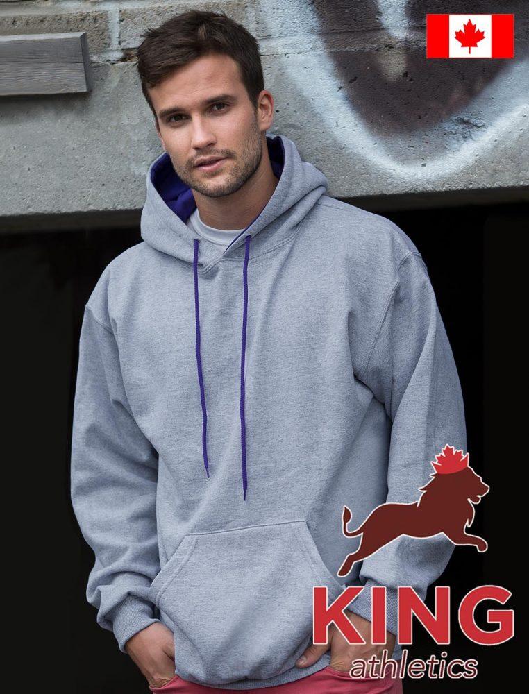 King 2-Tone Hoodie Pullover #KF9041