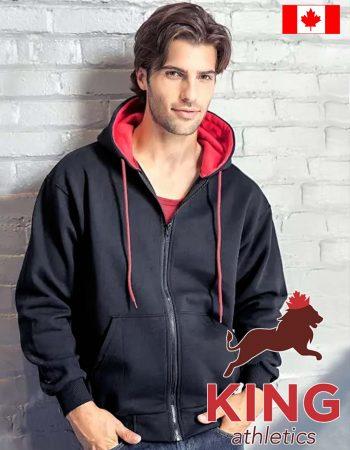 King 2-Tone Hoodie Full-Zip #KF9047