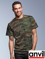 Anvil Midweight Camouflage Tee #939