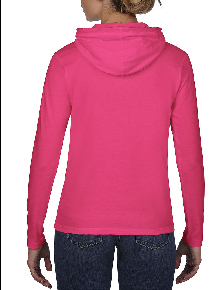 Anvil Ladies Long Sleeve Hood Tee #887L