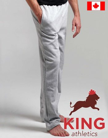 King Open Bottom Pkt Sweatpants #KF9022