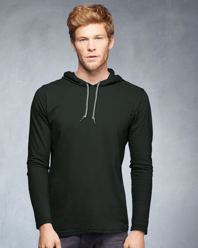 Anvil CRS Long Sleeve Hood Tee #987