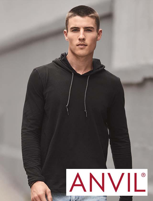 Anvil CRS Long Sleeve Hood Tee #987