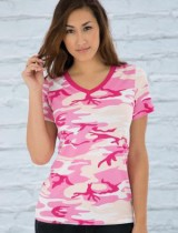 ATC Ladies Camo V-Neck Tee #ATC8001L