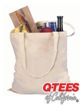 Q-Tees Cotton Economical tote #QTB
