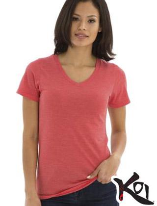 Koi Ladies Triblend V-neck Tee #KOI8022L