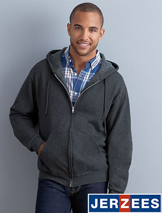 Jerzees Fleece 1-Ply Hoodie Full-Zip #993