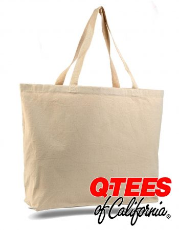 Q-Tees Canvas Gusseted Jumbo Tote #Q600