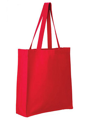 Q-Tees Canvas Gusseted Shopper #Q125300