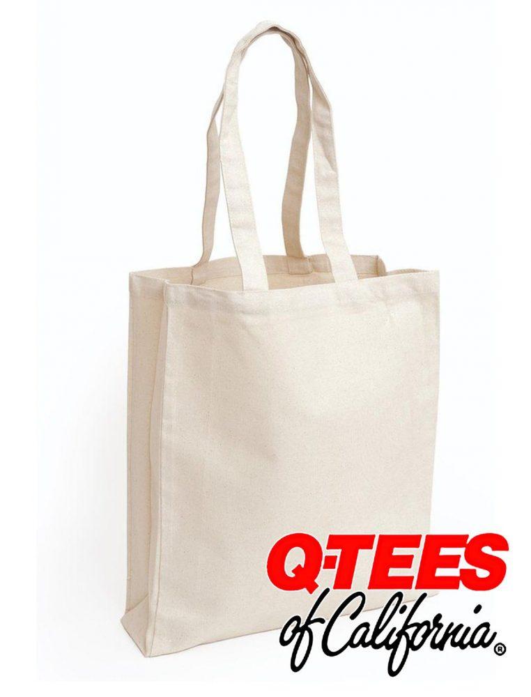 Q-Tees Canvas Gusseted Shopper #Q125300