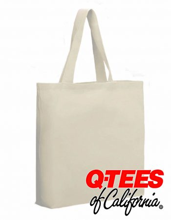 Q-Tees Cotton Gusseted Economical Tote #QTBG