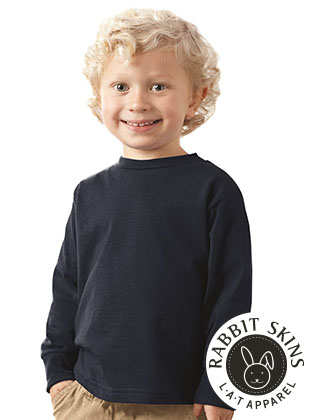 TODDLER Rabbit Skins Cotton LS Tee #3311
