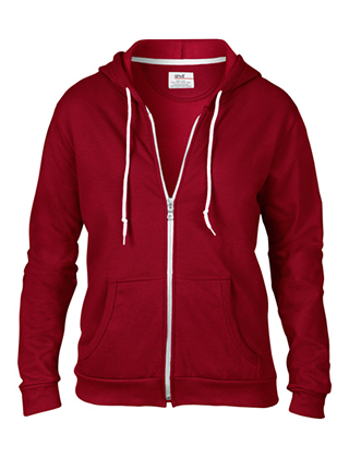 Printing on Ladies Fit Hooded Sweatshirt