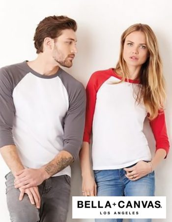 Bella+Canvas 3/4 Sleeve Baseball Tee #B3200