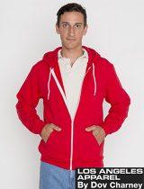 LA Apparel Fitted Fleece Zip Hoodie #F97