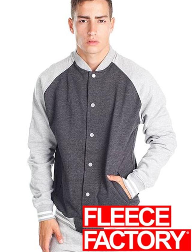 Fleece Factory Fleece Varsity Jacket #M888