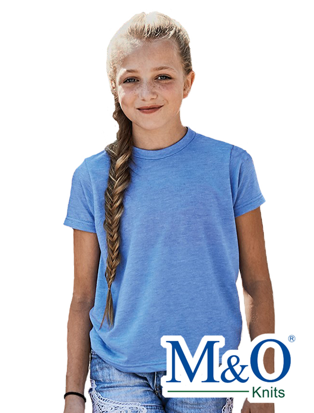 YOUTH M&O 65/35 Poly Blend Tee #3544