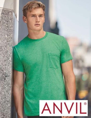 Anvil Lightweight Pocket Tee #983