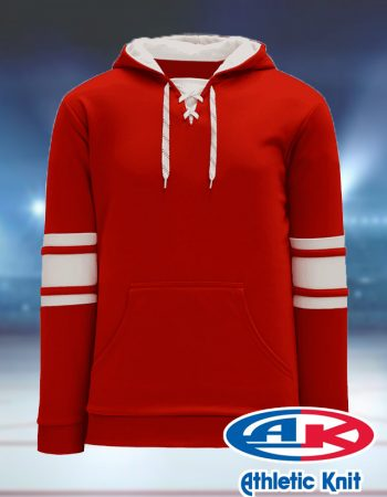 Athletic Knit Stripe Hockey Hoodie #A1845