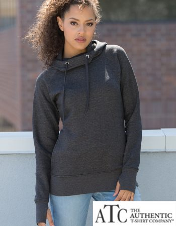 ATC Ladies Funnel Neck Vintage Hoodie #L2045