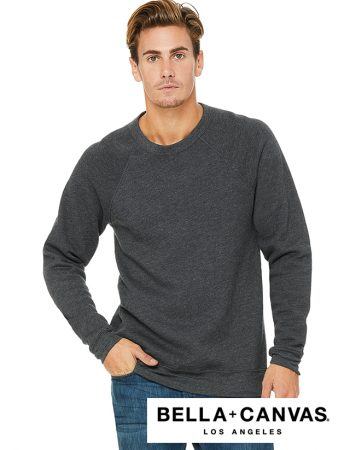 Bella+Canvas Fitted Sponge Raglan Crewneck #B3901