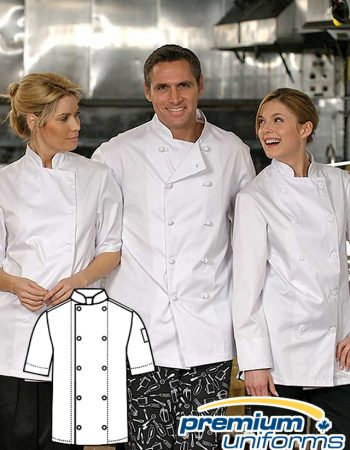 Prem Uniforms Short Sleeve Econo Chef Coat #5300SS/SKB