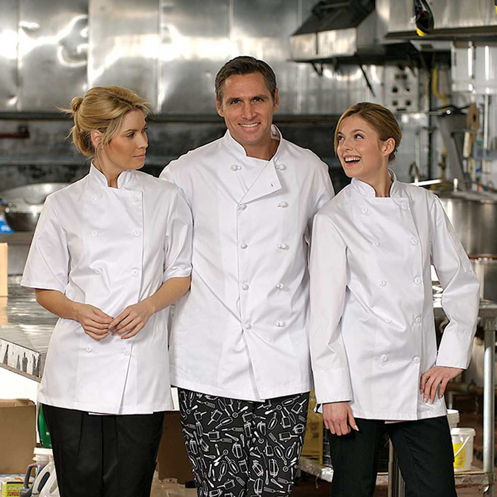Prem Uniforms Long Sleeve Econo Chef Coat #5300/KB