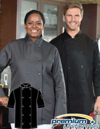 Prem Uniforms Short Sleeve Colour Chef Coat #5353SS/SKB