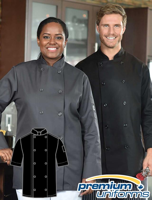Prem Uniforms Short Sleeve Colour Chef Coat #5353SS/SKB