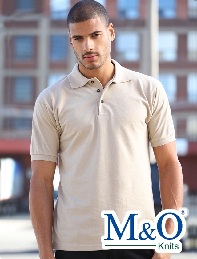 M&O Ring Spun Cotton Pique Polo #7002