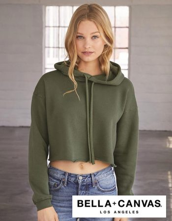 Bella+Canvas Women's Cropped Fleece Hoodie #B7502