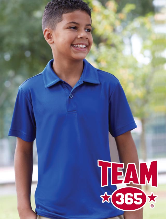 YOUTH Team 365 Zone Performance Polo #TT51Y
