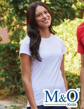 M&O Ladies Ringspun Fine T-Shirt #4513