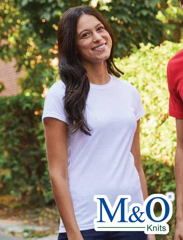 M&O Ladies Ringspun Fine T-Shirt #4513
